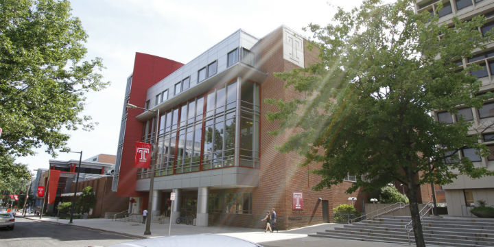 The student center at Temple University. Photo: Jeannine Keefer.