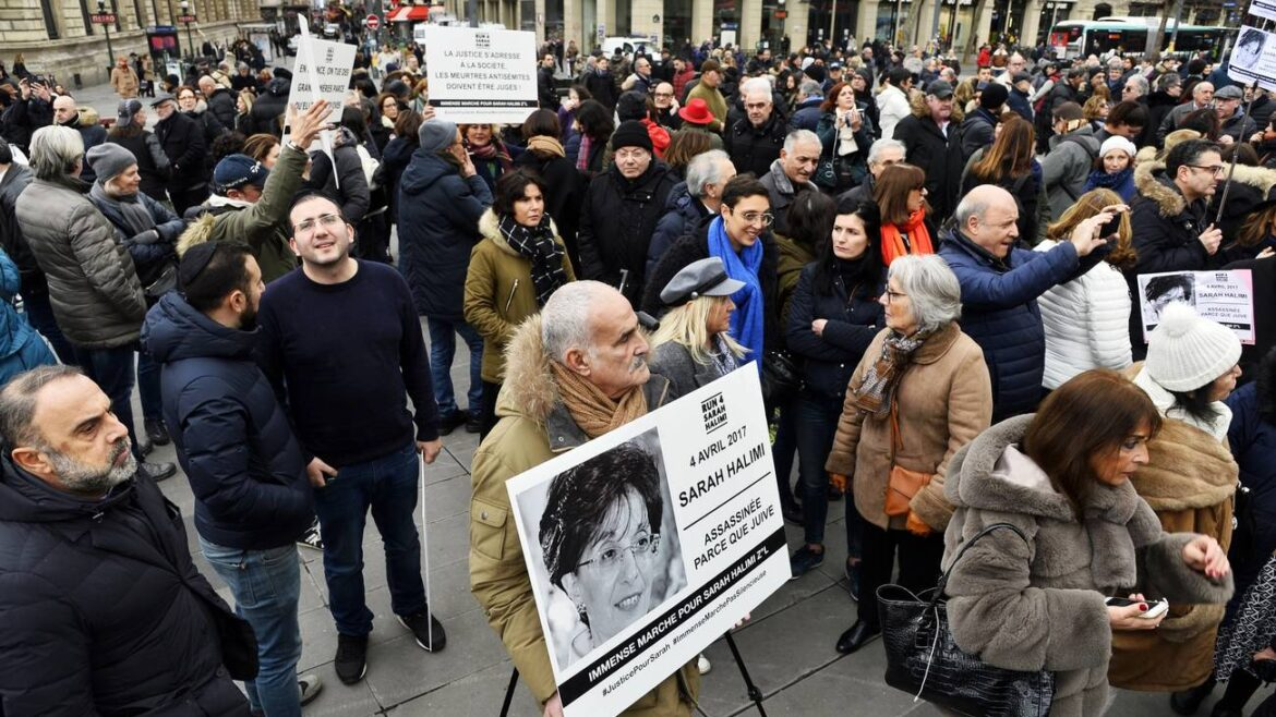 FRED VIELCANET/GAMMA-RAPHO VIA GETTY IMAGES March for Sarah Halimi in Paris
